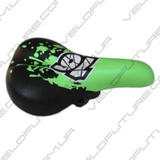 СЕДЛО велосипедное ДЕТСКОЕ AVANTI-006- Зеленое с Черным 16 2